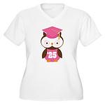 2025 Owl Graduate Class Women's Plus Size V-Neck T