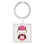 2026 Owl Graduate Class Square Keychain