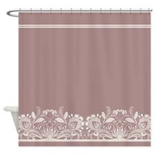 Pretty Lace Ornate Shower Curtain