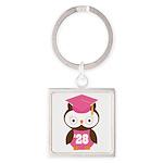2028 Owl Graduate Class Square Keychain