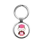 2028 Owl Graduate Class Round Keychain
