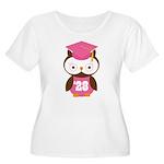2028 Owl Graduate Class Women's Plus Size Scoop Ne