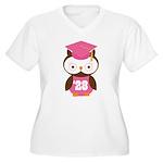 2028 Owl Graduate Class Women's Plus Size V-Neck T