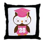 2028 Owl Graduate Class Throw Pillow