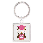2029 Owl Graduate Class Square Keychain
