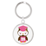 2029 Owl Graduate Class Round Keychain