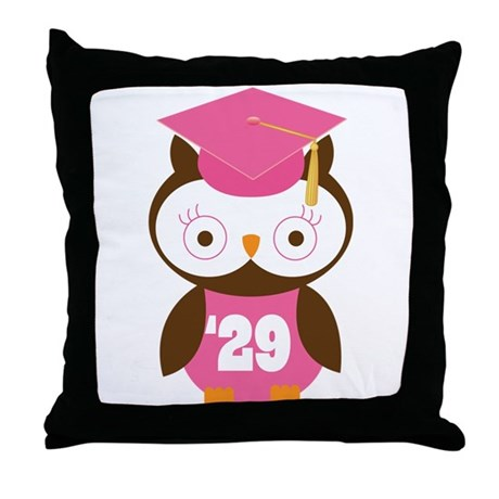 2029 Owl Graduate Class Throw Pillow