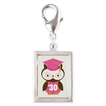 2030 Owl Graduate Class Silver Portrait Charm