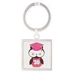 2030 Owl Graduate Class Square Keychain