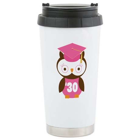 2030 Owl Graduate Class Stainless Steel Travel Mug