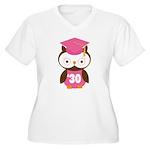 2030 Owl Graduate Class Women's Plus Size V-Neck T