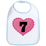 7th Birthday Big Heart Bib