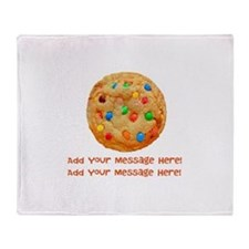 Personalize It, Chocolate Cookie Throw Blanket