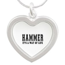Hammer It's A Way Of Life Silver Heart Necklace