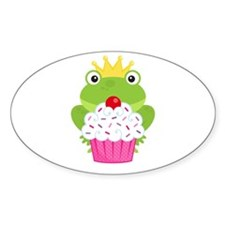 Frog Princess Birthday Cupcake Decal