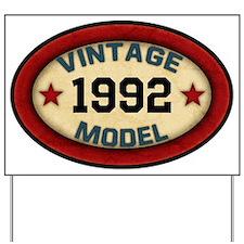 CUSTOM YEAR Vintage Model Yard Sign