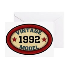 CUSTOM YEAR Vintage Model Greeting Card