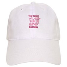 Pink Argyle 10th Birthday - Personalized! Baseball