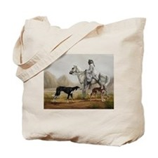 Arabian Bedouin Hunting with Two Salukis Tote Bag