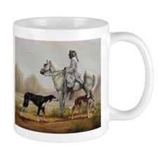 Arabian Bedouin Hunting with Two Salukis Mug