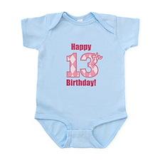 Happy 13th Birthday - Pink Argyle Body Suit
