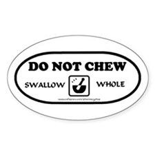 Swallow Whole Oval Decal