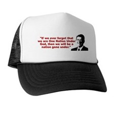 Ronald Reagan Quotes Trucker Hat