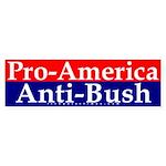 Pro-America, Anti-Bush Bumper Sticker