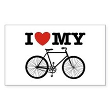 I Love My Bicycle Decal