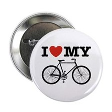 "I Love My Bicycle 2.25"" Button"