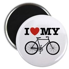 I Love My Bicycle Magnet