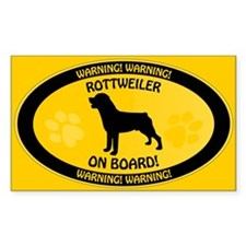 Rottweiler On Board 2 Stickers