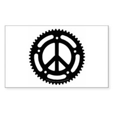 Peace Chainring Decal