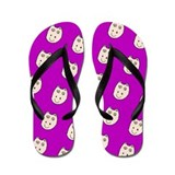 Purple Ditto Hippo Mirage Designer Flip Flops