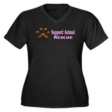 """Support Animal Rescue"" Plus Size T-Shirt"