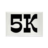 5K Race Rectangle Magnet (100 pack)