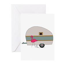 Camper Flamingo Greeting Cards (Pk of 20)