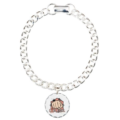 Uterine Cancer Punch Fight Like A Girl Charm Brace