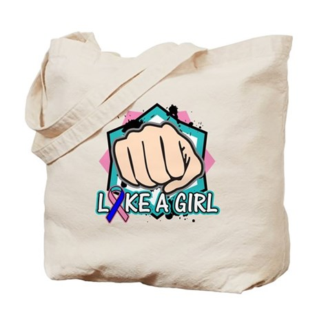 Thyroid Cancer Punch Fight Like A Girl Tote Bag