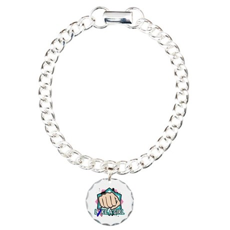 Thyroid Cancer Punch Fight Like A Girl Charm Brace