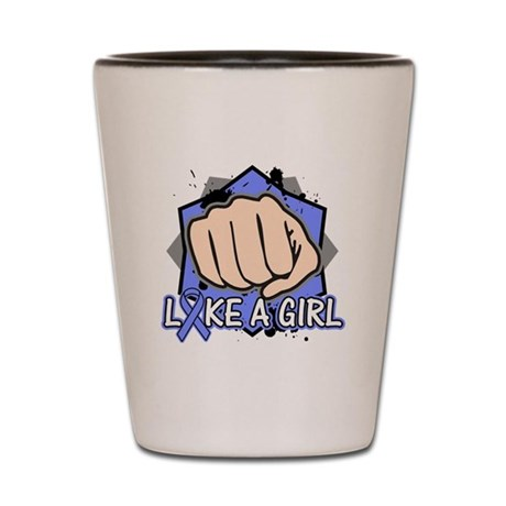 Stomach Cancer Punch Fight Like A Girl Shot Glass