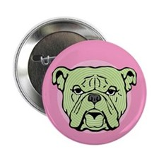 "Halftone Bulldog 2.25"" Button (10 pack)"