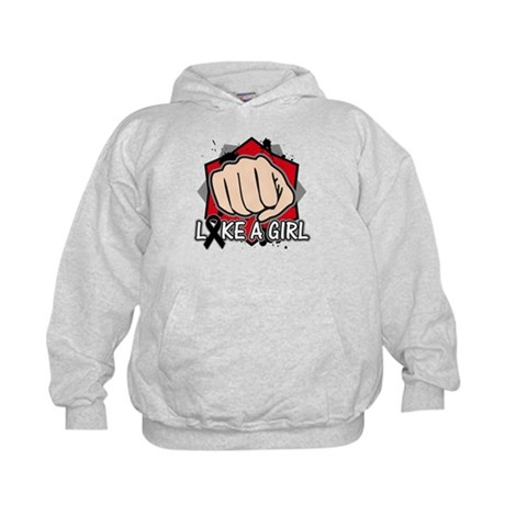 Skin Cancer Punch Fight Like A Girl Kids Hoodie