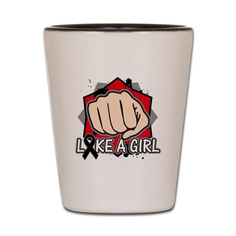 Skin Cancer Punch Fight Like A Girl Shot Glass