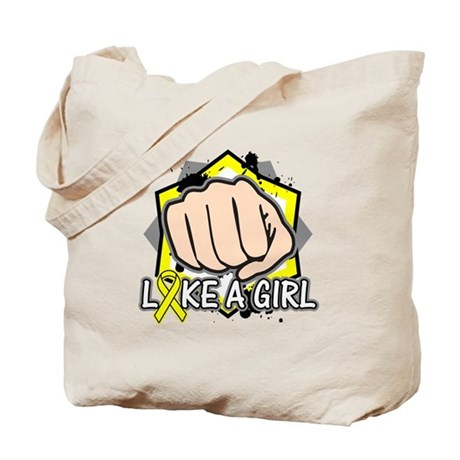 Sarcoma Punch Fight Like A Girl Tote Bag