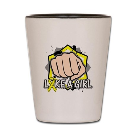 Sarcoma Punch Fight Like A Girl Shot Glass