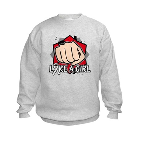 Retinoblastoma Punch Fight Like A Girl Kids Sweats