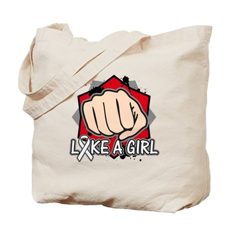 Retinoblastoma Punch Fight Like A Girl Tote Bag