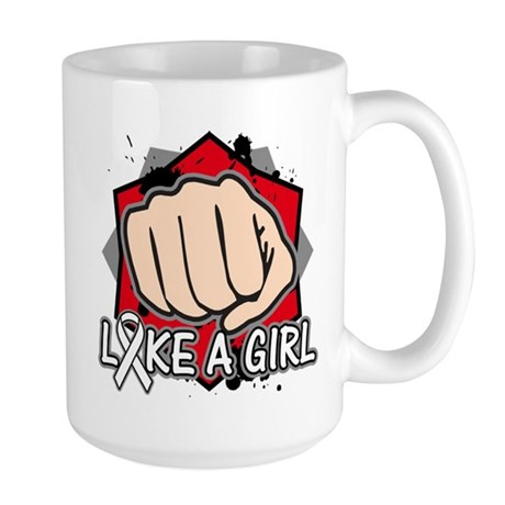 Retinoblastoma Punch Fight Like A Girl Large Mug