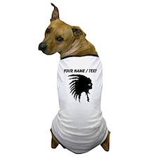 Custom Indian Headdress Outline Dog T-Shirt